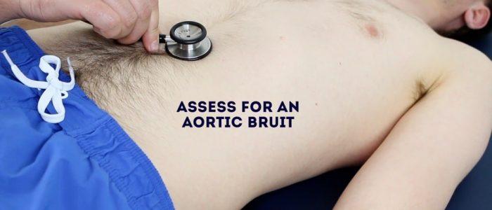 Aortic bruit