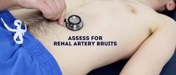 Renal artery bruit