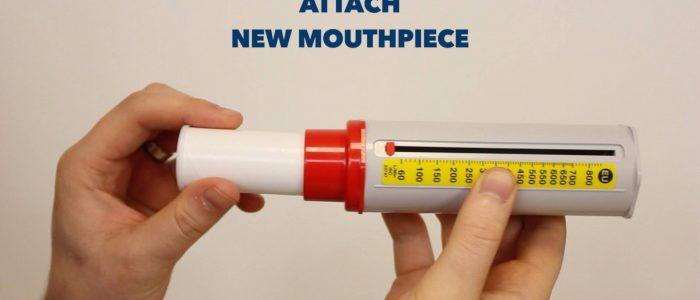 Attach new mouthpiece PEFR