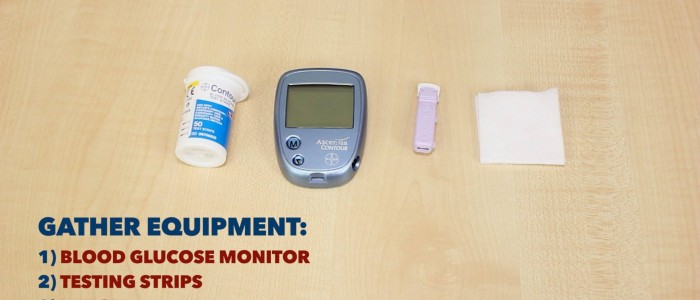 Gather blood glucose equipment