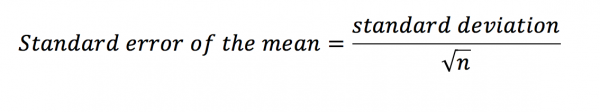 Standard error of the mean equation