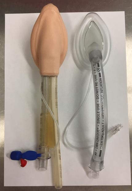 Proseal LMA (on left) // Standard LMA (on right)