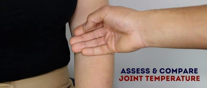Elbow joint palpation