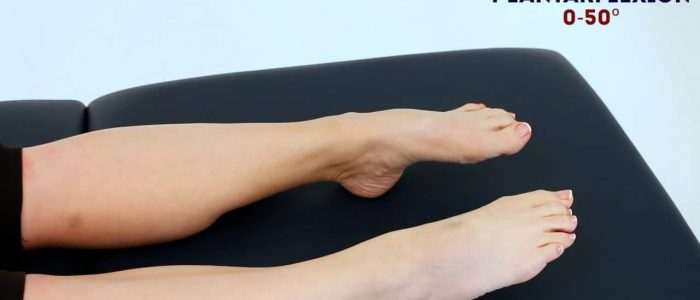 Active ankle plantarflexion