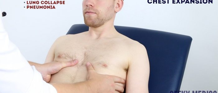 Assess chest expansion