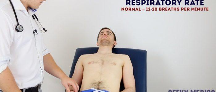 Assess respiratory rate