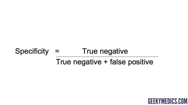 Specificity equation