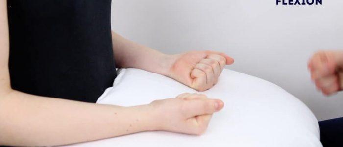 Active finger flexion
