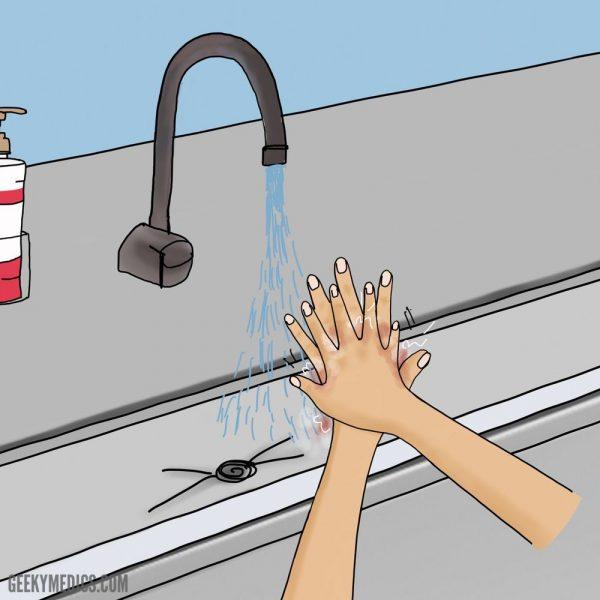 Surgical hand scrub
