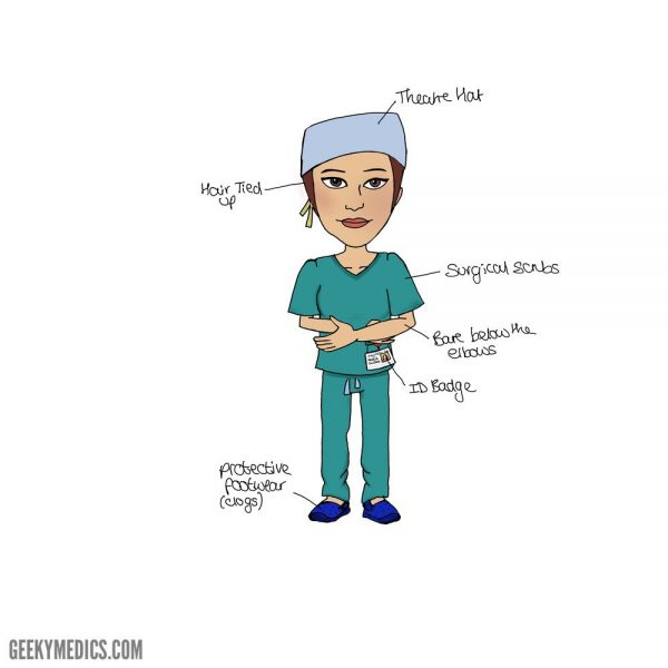Operating theatre scrubs