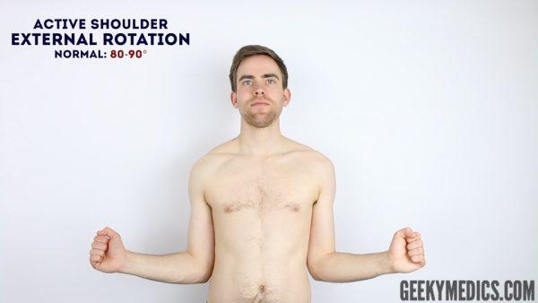Active shoulder external rotation