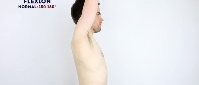 Active shoulder flexion