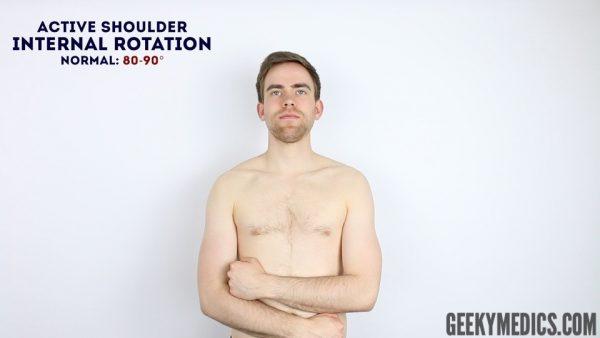 Active shoulder internal rotation