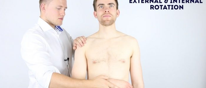 Passive shoulder internal rotation