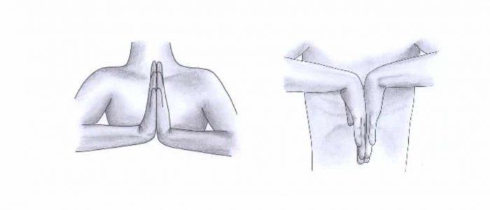 Prayer sign and reverse prayer sign