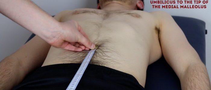Measure apparent leg length
