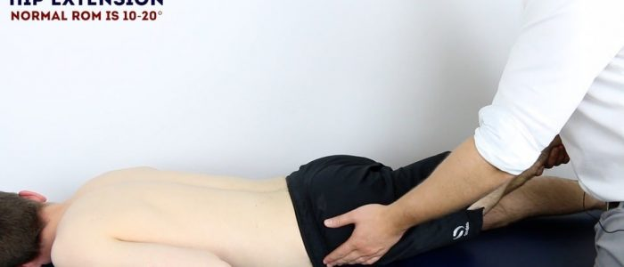 Assess HIP EXTENSION (prone)