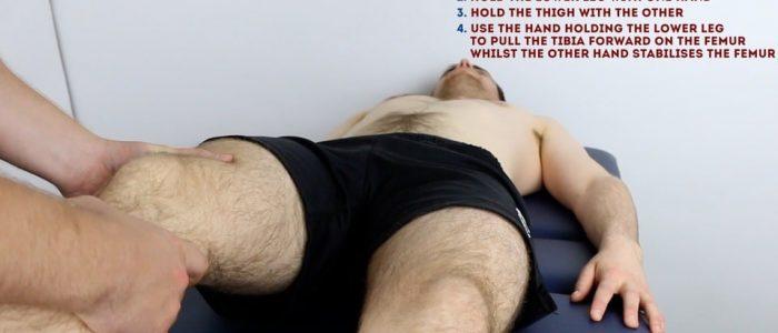 Lachman's test - Pull the tibia forward on the femur