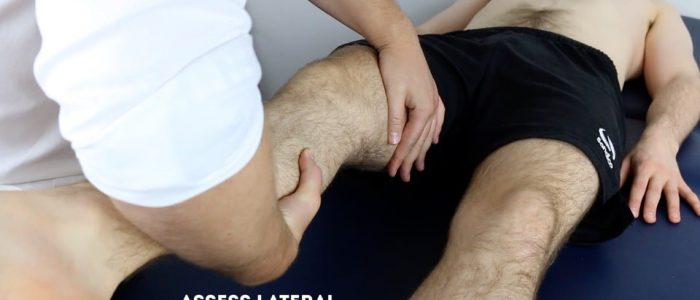 Assess lateral collateral ligaments (LCL)