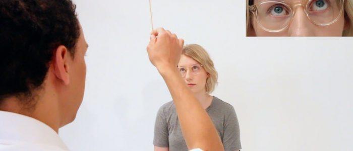 Assess eye movements